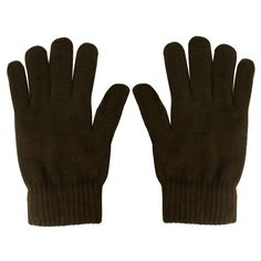 040355591 Men's Everyday Winter Thick Knit Thinsulate 3M Warm Snow Ski Gloves Brown  M/L #