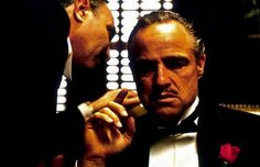 The Godfather, Francis Ford Coppola's masterpiece about the Sicilian Mafia, starred Marlon Brando as The Godfather and Al Pacino as his son, Michael Corleone. Marlon Brando, The Godfather 1972, Godfather Movie, Mafia, Blade Runner, Don Corleone, Corleone Family, The Godfather, Before I Die