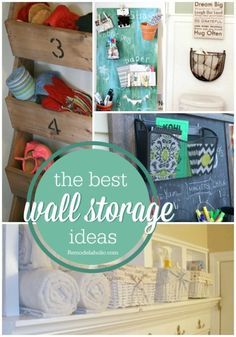 Great ideas for using wall baskets and organizers to free up space in your cabinets and counters!