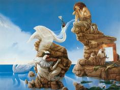 Michael Parkes (1944 – ) is an American-born magic realism artist specializing in fantasy painting, stone lithography and sculpture. Description from cdn.all-art.org. I searched for this on bing.com/images