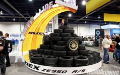 Falken Tire SEMA Booth Ziex ZE950 Display 01