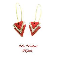 Fashion Femmes Géométrique Rond en cuir fait main Boucles d/'oreilles pendantes boutique bijoux