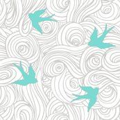 Turquoise bird wallpaper for the laundry room.