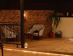 Rustic Red Blend brick slips used to great effect in this Bar renovation Tiles Uk, Brick Tiles, Retro Furniture, Industrial Furniture, Vintage Industrial Lighting, Stone Cladding, Milton Keynes, Peterborough, Floors