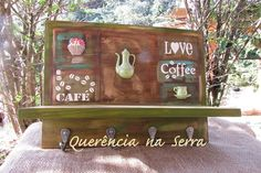 Prateleira Love Coffee verde