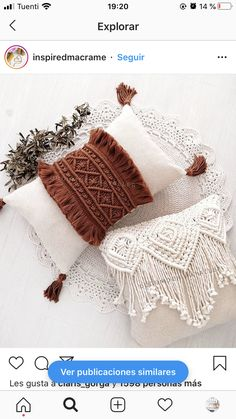 Macrame Art, Macrame Projects, Hooded Scarf Pattern, Knots, Crochet Hats, Boho, Sewing, House, Inspiration
