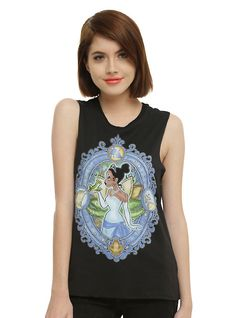 Disney The Princess And The Frog Tiana Stained Glass Girls Muscle Top,