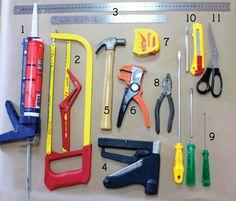 As ferramentas mais utilizadas para trabalhos manuais