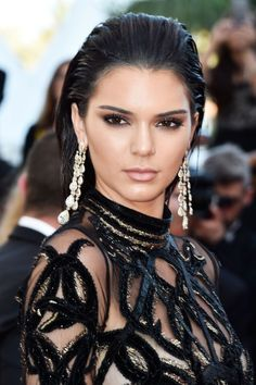 Kendall Jenner at the 2016 Cannes premiere of 'From the Land of the Moon'. http://beautyeditor.ca/2016/05/24/cannes-film-festival-2016