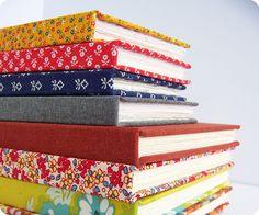 Notebooks, covered with wonderful fabrics