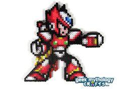 Mega Man X zéro Perler Bead Sprite jeu vidéo Pixel Art décoration