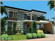 2 Storey House Design, House Front Design, Small House Design, Modern House Design, Modern House Facades, Modern Architecture House, Architecture Design, House Paint Exterior, Dream House Exterior