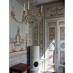The Divan Anteroom in Gustaf III's pavilion at Haga was decorated in 1789 after a design by Louis Masreliez. #HakanGroth #Masreliez #Haga #Stockholm #Sweden #Gustavian