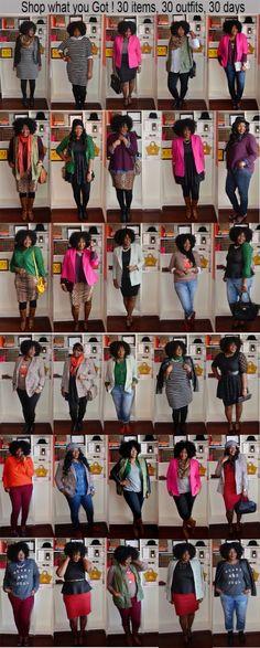 Plus size fashion for women 30 X 30 Outfits Challenge: Plus size fashion inspiration by reva