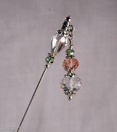 Crystal Stick Pin 3 Inch Charm Stick Pin Dangle by KillamCreative, $6.00