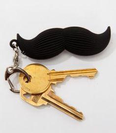 Mustache keychain!