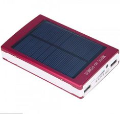 30000mAh Dual USB Portable Solar Battery Charger Power Bank For Cell Phone Red #XPower