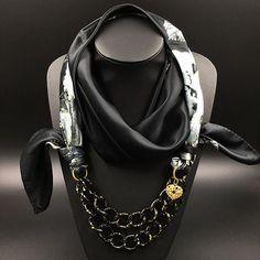 Divinity Scarves | Morrigan Silk Scarf Necklace