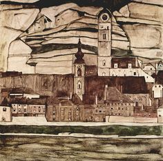 Egon Schiele Landscape Clock Tower | by griffinlb