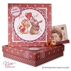 Kim's Printables - Tent Treats Card - Birthday Mice