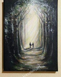 Walk acrylic paint