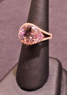 TGIF at FMJ!! Rose Gold, Amethyst and Diamond fashion ring!! Perfect for summer!!