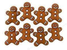 Gingerbread with White trim Cookies Plastic Buttons/ Sewing supplies / DIY supplies / Novelty Buttons / Party Supplies / Kids craft supplies - pinned by pin4etsy.com
