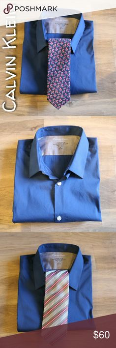 NWOT Calvin Klein Solid Blue Dress Shirt Calvin Klein solid blue dress shirt, extreme slim flit. 74% Cotton 23% Nylon 3% Spandex 15-15.5 / 32-33 New without tags, never worn. Calvin Klein Shirts Dress Shirts