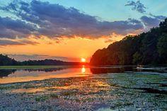 Potomac River, Potomac River at Poolesville, Maryland.