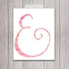 75% OFF SALE  Ampersand Print 8x10  Wedding Decor Printable