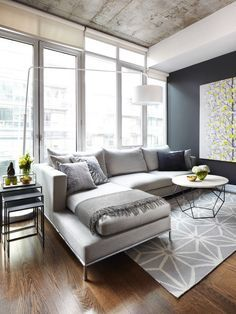 Living Room Inspiration Great Grey Sofa And Bulb Lights  Room Inspiration Contemporary Modern Living Room Review