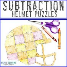 SUBTRACTION Football Math Stations | Sports Theme Classroom Decor | 1st, 2nd, 3rd grade, Activities, Autumn, Basic Operations, Games, Homeschool, Math, Math Centers Sports Theme Classroom, 3rd Grade Classroom, Special Education Classroom, Classroom Decor, Math Stations, Math Centers, Ell Students, Halloween Math, Math Math
