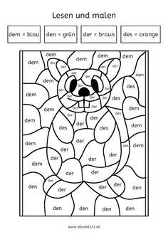 Arbeitsblatt - Tausendfüßler malen, Zahlen 1-10 und Farben ueben ...