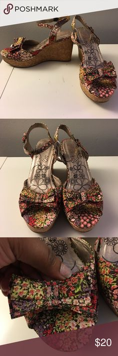 Floral Wedge Sandal Great condition. Never worn! Shoes Sandals