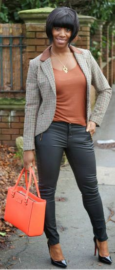 H& M blazer, Oasis jeans, Kate Spade bag, Louboutin heels Classy Outfits, Fall Outfits, Casual Outfits, Cute Outfits, Work Fashion, Ladies Fashion, Women's Fashion, Casual Fridays