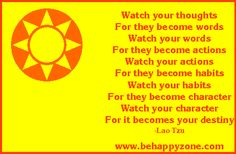 Watch your thoughts. Famous inspirational poems and quotes from behappyzone Famous Short Poems, Poetry Famous, Famous Inspirational Poems, Watch Your Words, Words Quotes, Sayings, Great Words, Felt Hearts, Lessons Learned