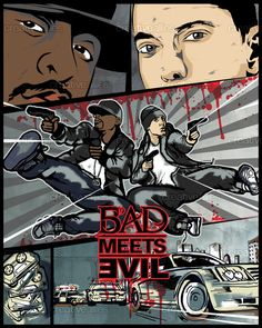 Bad Meets Evil Poster by KayleighDoughty on CreativeAllies.com