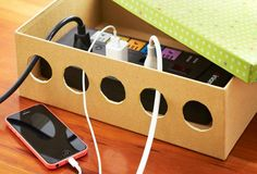 Organize those pesky charging cables in a fun and unique way, that looks great too.