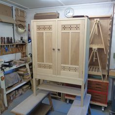 Crockery cabinet in sweet chestnut ready for finishing. Harvey Furniture, Wood Furniture, Furniture Design, Crockery Cabinet, Sweet Chestnut, Cabinet Making, Craft Items, Wooden Boxes, Woodworking