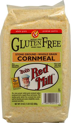 Bob's Red Mill Gluten Free Masa Harina Golden Corn Flour - trying to replace the Maseca brand after reading that it is all GM and they have essentially destroyed mx. economy - people can barely even afford to buy tortillas. way to go MNC! Gluten Free Brands, Gluten Free Meatballs, What Is Gluten Free, Gluten Free Cornbread, Bobs Red Mill, Gluten Free Snacks, Baking Ingredients, Gourmet Recipes, Free Recipes