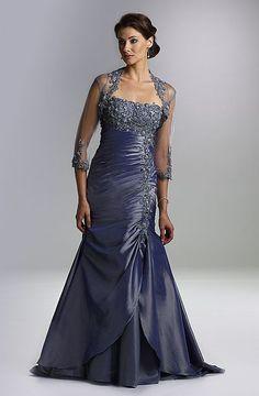 Rina di Montella Iridescent Taffeta Mothers Wedding Dress RS1405 at frenchnovelty.com