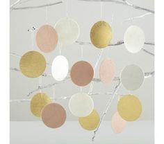 Kids Ornaments: Metallic Polka Dot Ornaments