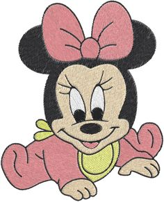 Baby minnie mouse Machine Embroidery Design -- 0500