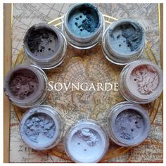 Sovngarde mineral eyeshadow collection.