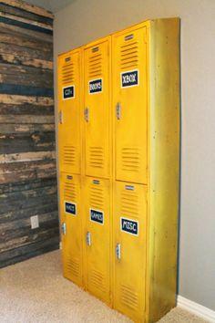 Locker Labels On Pinterest Lockers Wood Feature Walls