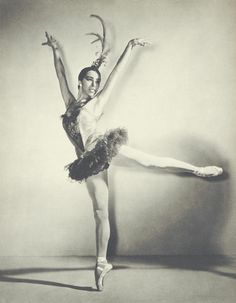 Maria Tallchief, of the Osage tribe from Oklahoma she was the first truly virtuosic American ballerina. She performed with the New York City Ballet and the Ballet Russe de Monte Carlo among her many achievements.