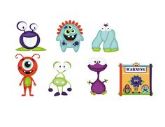 Preschool Printables: Free Little Monster Sticks