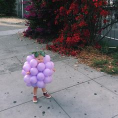 """At first Nell was all sour grapes, but then she heard it through the grapevine that this costume is super cool. Happy Halloween! """