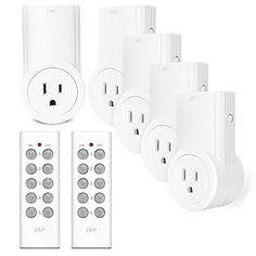 Etekcity Wireless Remote Control Electrical Outlet Switch for Household Appliances White Learning Code 5Rx2Tx *** You can get more details by clicking on the image.Note:It is affiliate link to Amazon.
