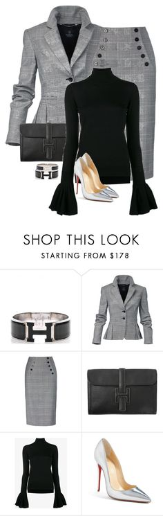"""DIVA"" by saskiasnow ❤ liked on Polyvore featuring Hermès, ADAM and Christian Louboutin"